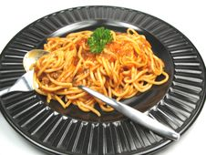 Free Eating Some Spaghetti Stock Images - 6763884