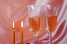 Free Pair Of Champagne Flutes Stock Photos - 6764053