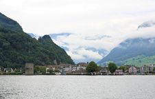 Free The Small Village On The Hills Around Lake Luzern Stock Photos - 6764193