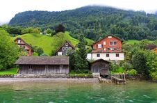 Free The Small Village On The Hills Around Lake Luzern Royalty Free Stock Photography - 6764207