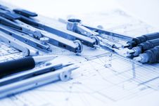 Free Architecture Blueprint Royalty Free Stock Images - 6764279