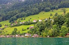 Free The Small Village On The Hills Around Lake Luzern Royalty Free Stock Photos - 6764288