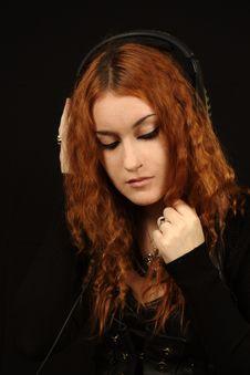 Free Girl In Black Royalty Free Stock Image - 6764296