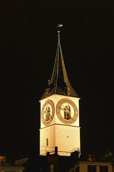 Free St. Peter S Church Tower In Zurich Royalty Free Stock Image - 6764326