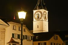 Free St. Peter S Church Tower In Zurich Royalty Free Stock Image - 6764346