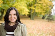 Free Autumn Woman Stock Image - 6764401