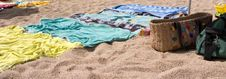 Free Towels In The Beach Stock Image - 6765151