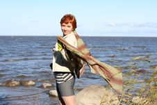 Free Red Haired Woman With Scarf Royalty Free Stock Images - 6765199