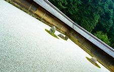 Free Ryoanji Zen Rock Garden Askew Royalty Free Stock Photography - 6765317