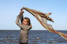 Free Blond Woman With Scarf. Royalty Free Stock Photo - 6765435