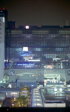 Free Kyoto Train Station At Night Stock Photo - 6765450