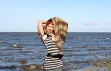 Free Red Haired Woman With Scarf. Stock Photos - 6765453