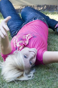 Free Young Blonde Woman Posing Royalty Free Stock Photography - 6765507