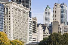 Free Architecture Along Michigan Avenue Stock Photos - 6767193