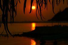 Sunset In Bahrain - Aldar Island Stock Photos