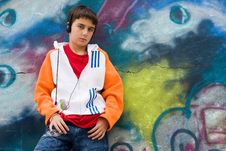 Free Cool Teenager Listening Music Royalty Free Stock Photography - 6767487