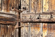 Free Old Wooden Door Royalty Free Stock Photography - 6767757