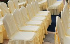 Free The Files Of Chairs With Cloth Cover . Stock Photo - 6768340