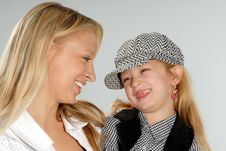 Free Cute Blond Mother & Daughter Royalty Free Stock Image - 6768346