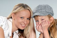 Free Cute Blond Mother & Daughter Stock Photo - 6768360
