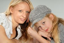 Free Cute Blond Mother & Daughter Stock Photos - 6768373