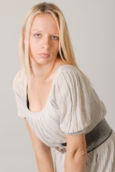 Cute Young Blond Lady Royalty Free Stock Photo