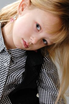 Free Cute Little Blond Girl Poses Royalty Free Stock Images - 6768459