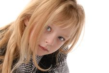 Free Cute Little Blond Girl Poses Royalty Free Stock Photography - 6768497