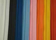 Free Coloured Zipper Stock Images - 6768564