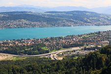Free The Aerial View Of Lake Zurich Royalty Free Stock Photo - 6769125