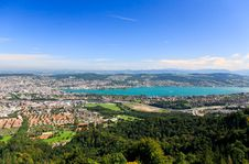 Free The Aerial View Of Lake Zurich Royalty Free Stock Images - 6769129