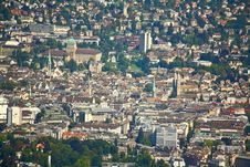 Free The Aerial View Of Zurich City Stock Photo - 6769130