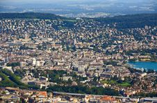 Free The Aerial View Of Zurich City Stock Photo - 6769140