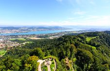 The Aerial View Of Lake Zurich Stock Photo