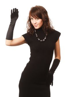 Free The Girl In Black Clothes Stock Images - 6769654