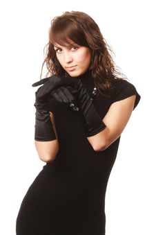 Free The Girl In Black Clothes Royalty Free Stock Photos - 6769658