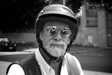 Free OLD MOTORCYCLIST Stock Photos - 6769683