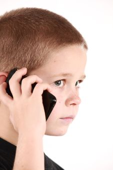 Free Boy And Phone Royalty Free Stock Image - 6769926