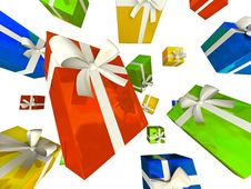 Free Colour Gift Boxes Stock Photo - 6769960