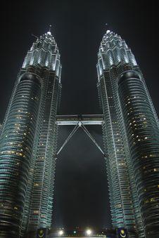 Free Petronas Towers In The Rain Stock Photos - 6769963