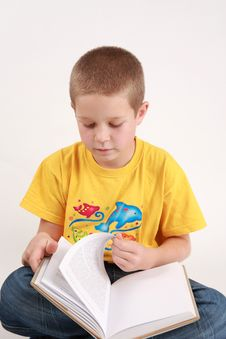 Boy And Book2 Royalty Free Stock Image