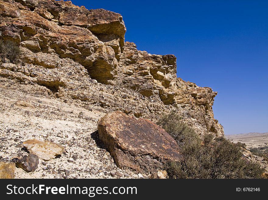 Cliff in the desert