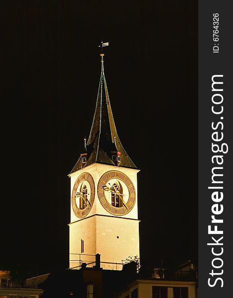St. Peter s Church tower in Zurich