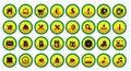 Free Yellow Web Button Set Royalty Free Stock Photo - 6770985