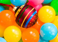 Free Christmas Toy Decoration Among The Colored Balls Royalty Free Stock Photos - 6772838