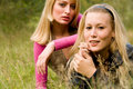 Free Sisters In The Grass Royalty Free Stock Image - 6776586