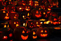 Free Carved Lighted Pumpkins Stock Photography - 6779382