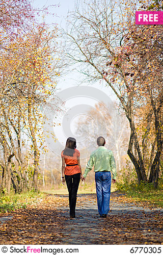 Free Young Couple Walking In The Park Royalty Free Stock Photo    Young Couple Walking In The Park