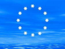 Free Snowflake Euro Flag Royalty Free Stock Photo - 6770085