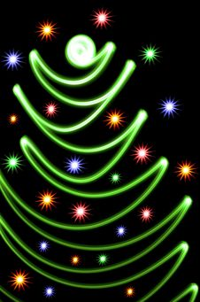 Free Abstract Christmas Tree Royalty Free Stock Photography - 6770357